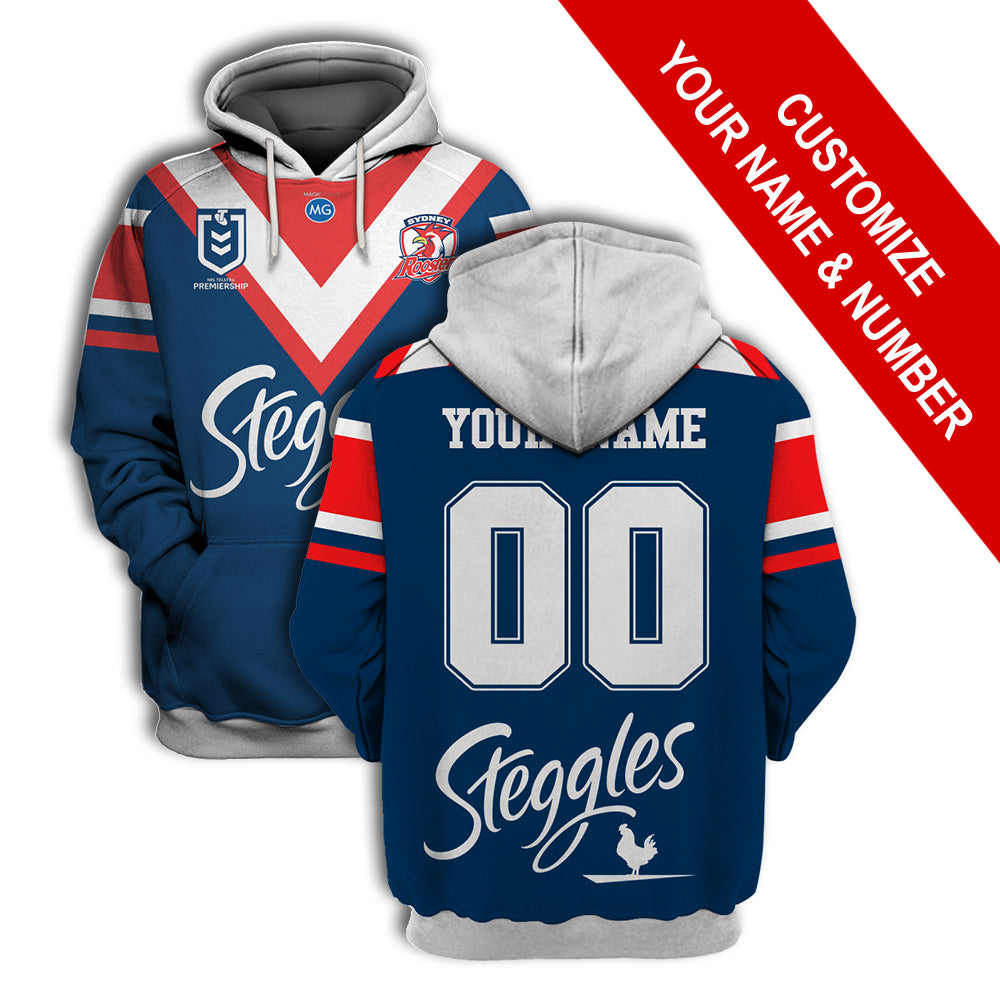 Sydney Roosters - Customize Name & Number