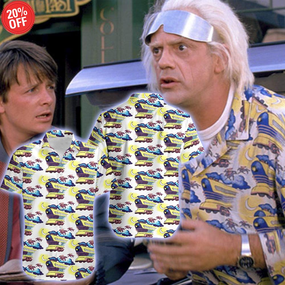 Doc Brown_BTTF - Hawaiian Shirt & Shorts