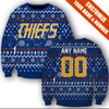 Image of SLAP SHOT MOVIE - CHIEFS BLUE CHRISTMAS