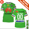Image of Customize Your Name & Number - Canberra Raiders - HOT SALE 3D PRINTED