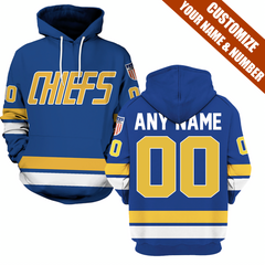 SLAP SHOT MOVIE - CHIEFS BLUE