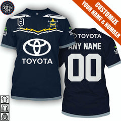 North Queensland Cowboys - Customize Name & Number