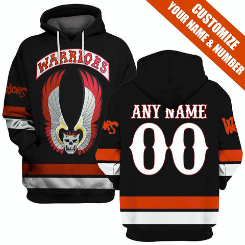 The Warriors Black ver.1 - Customize your name & number