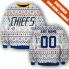 Image of SLAP SHOT MOVIE - CHIEFS WHITE CHRISTMAS