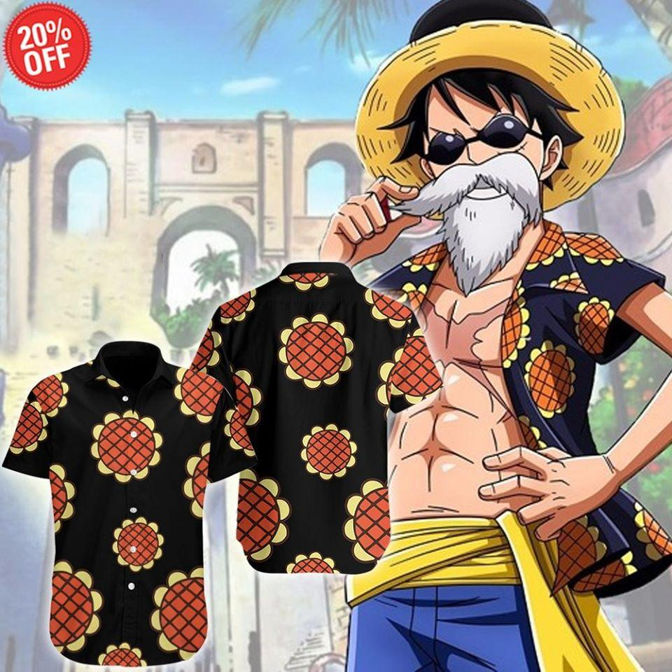 Luffy-Hawaiian Shirt & Shorts