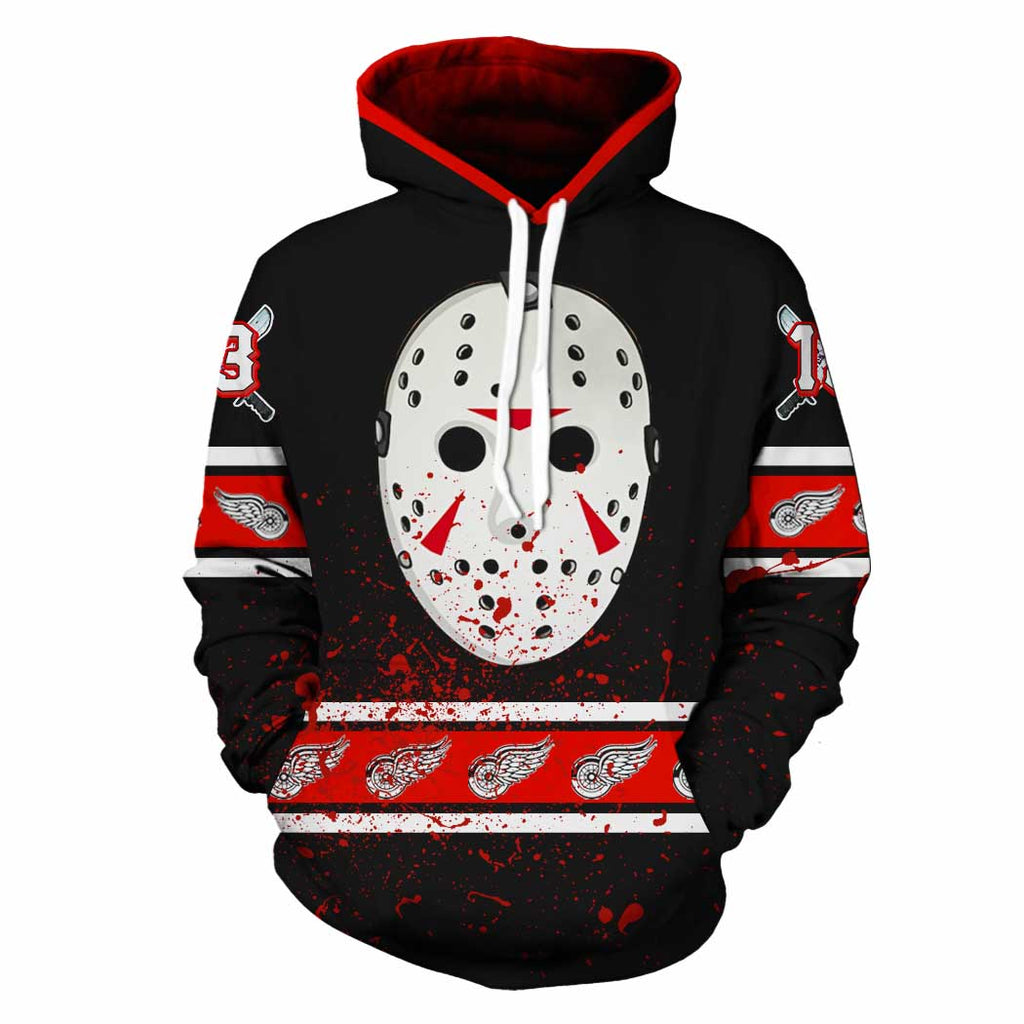 Detroit Red Wings-Friday13thHK009 - HOT SALE 3D PRINTED - NOT IN STORE