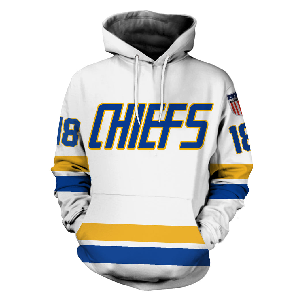 Hanson Brothers #18 White
