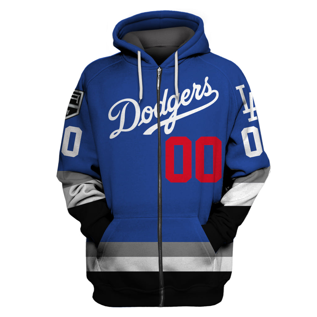 LA Kings Dodger Customize Name & Number - Blue Jersey