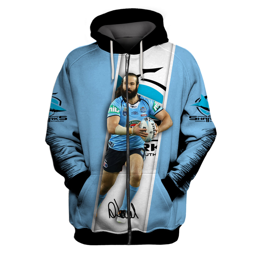 Aaron Woods-NRLShark003 - HOT SALE 3D PRINTED - NOT IN STORE