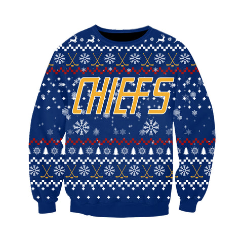SLAP SHOT MOVIE - CHIEFS BLUE CHRISTMAS