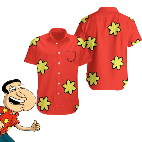 Glenn Quagmire_Family Guy - Hawaiian Shirt & Shorts