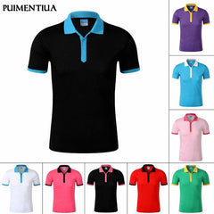 Puimentiua Mens Casual Turn-down Collar Short Sleeve Shirt Men