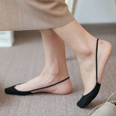 Female Solid Color High Heels Invisible Socks Fashion