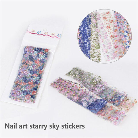 10Pcs/Set Fashion Nail Foil Sticker