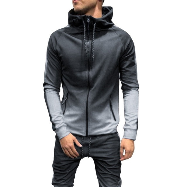 2019 Autumn Casual Men Tracksuit Sets