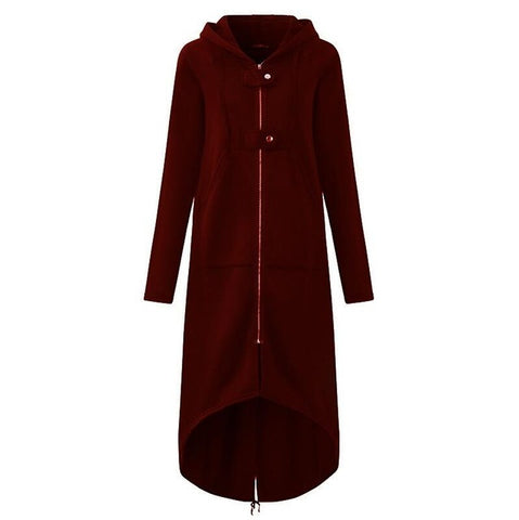 Fashion Long Sleeve Hooded Trench Coat