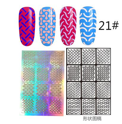 12 Tips/Sheet DIY Fashion Women Nail Vinyls