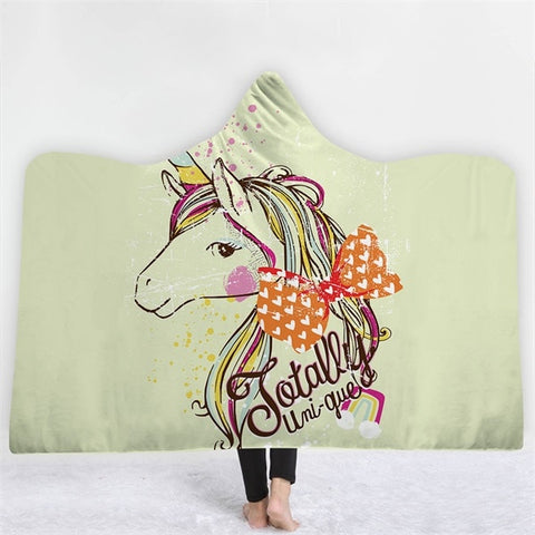 Unicorn Boho Mandala Hooded Blanket