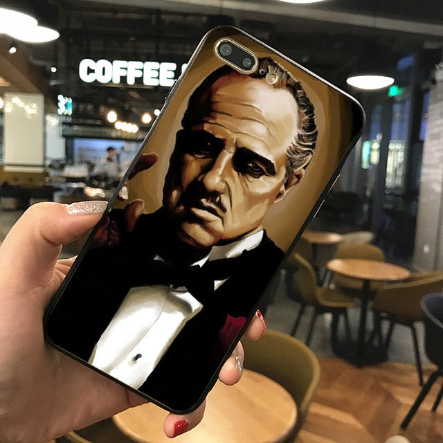 The Godfather phone Case For iphone X XS XR 8 black silicone case for Samsung S7 S8 Case Cover
