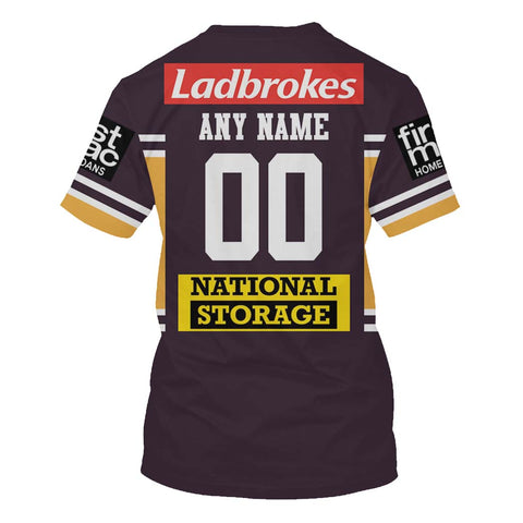 Brisbane Broncos - Customize Name & Number
