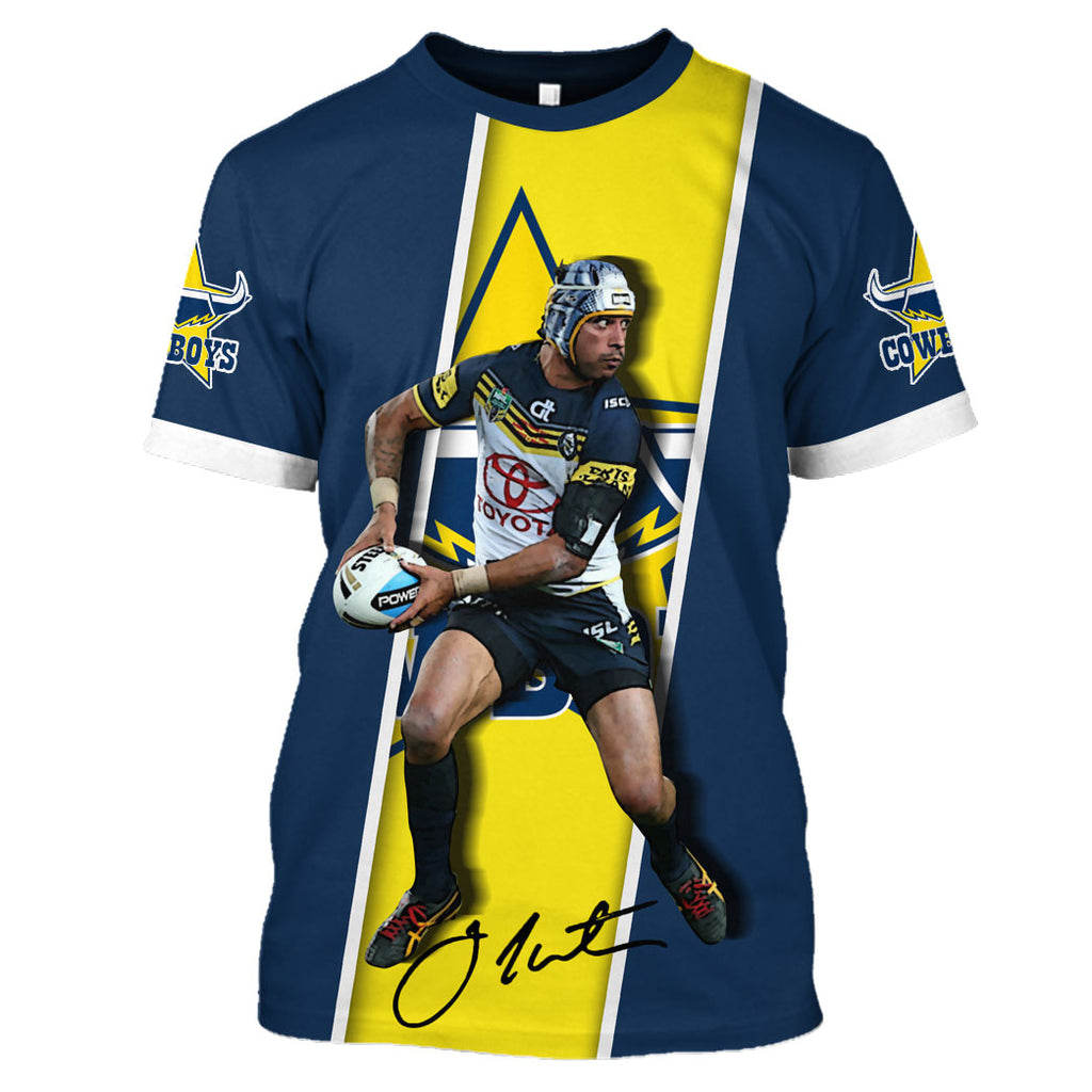 Johnathan Thurston ver3-Cowboy003 - HOT SALE 3D PRINTED - NOT IN STORE