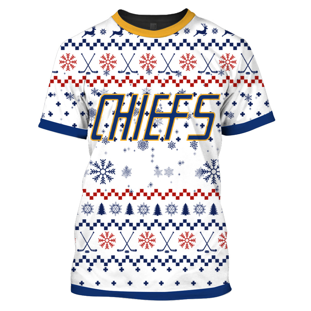 SLAP SHOT MOVIE - CHIEFS WHITE CHRISTMAS