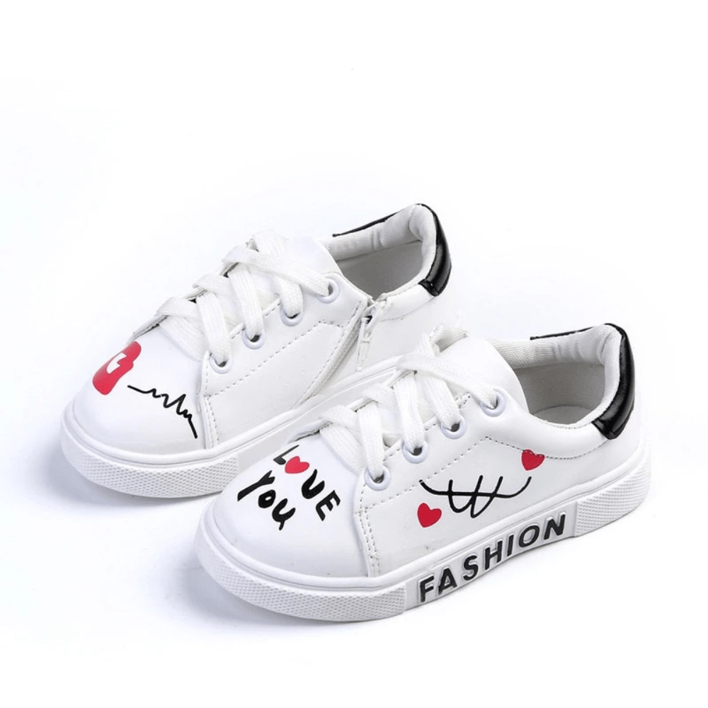 Graffiti Love Sneakers -Toddlers & Girls