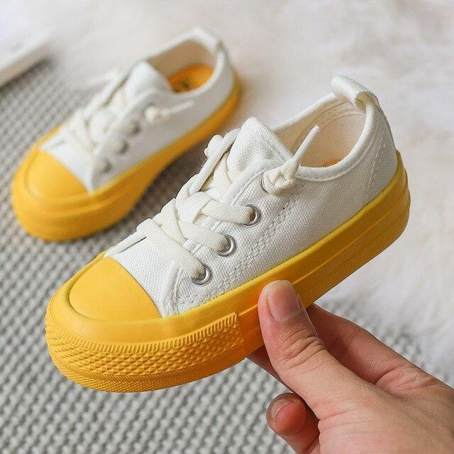 Bright Bottom Canvas Shoes for Toddlers & Kids