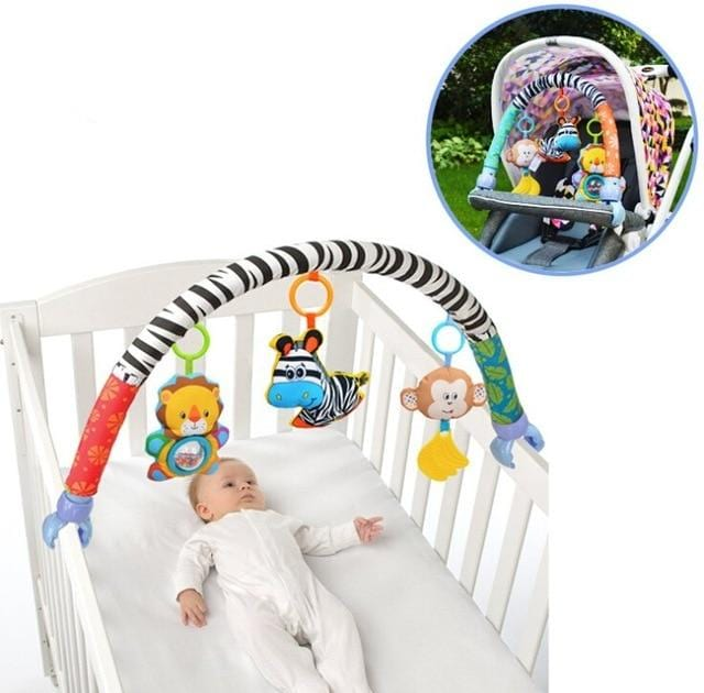 Hanging Arch Rattle Toys - Stroller/Crib Accessory