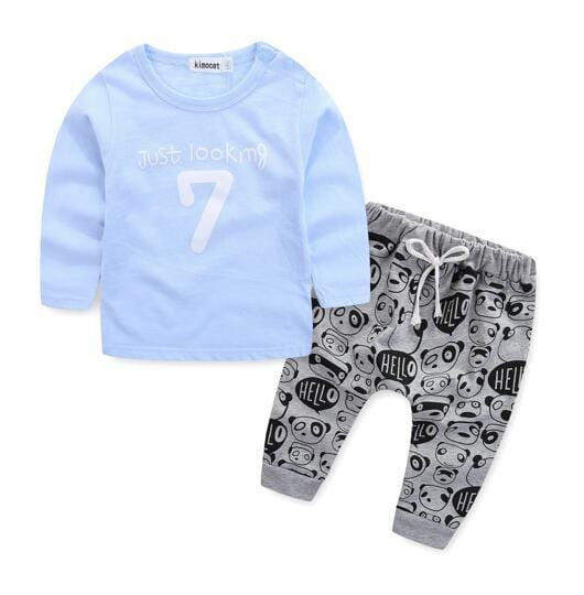 2 pc | Bebe Style Graphic Tee & Pants Set