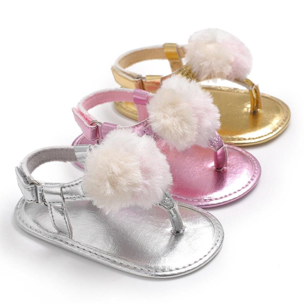 Plush Ball Soft Sole Sandals