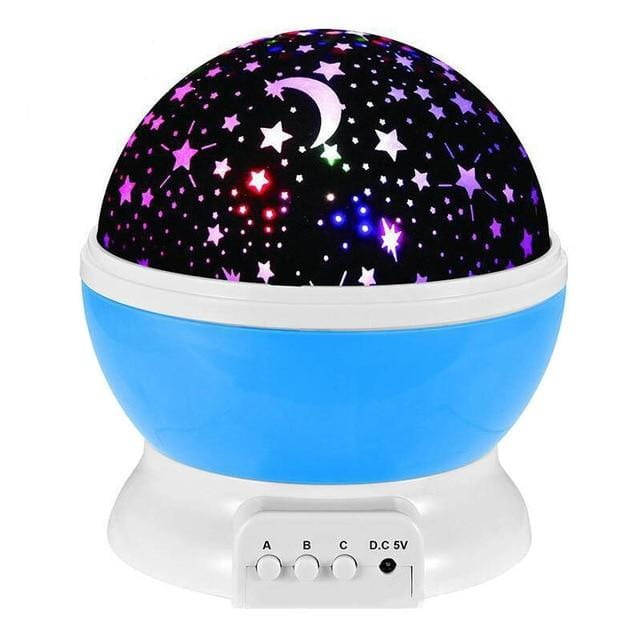 LED Rotating Starry Projector Lamp - Moon & Star Projection