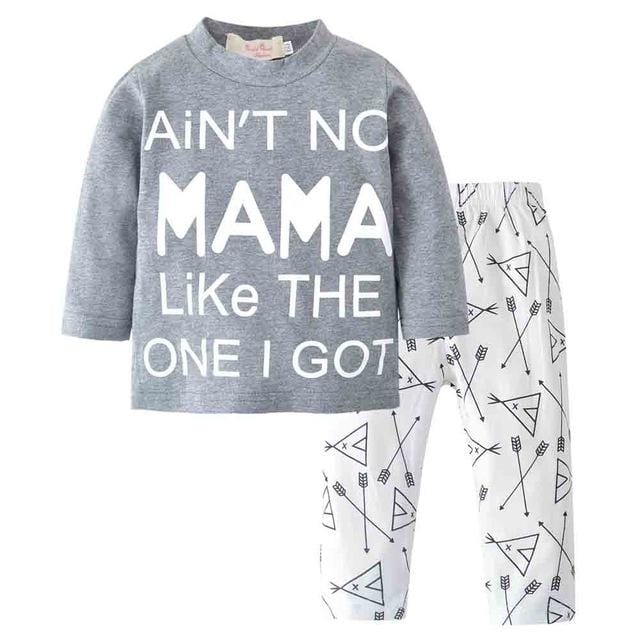 2 pc | Mama's Baby Boy T-shirt + Arrow Pants Set