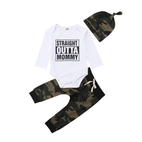 3 pc | Straight Outta Mommy Camo Set
