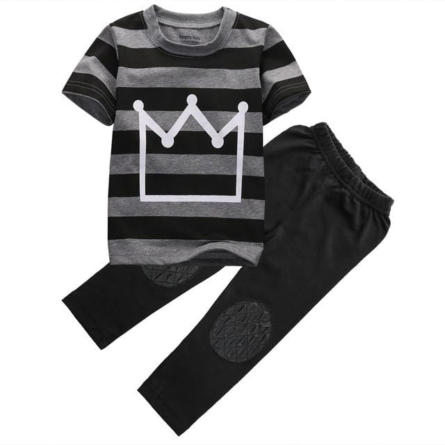 2 pc | Toddler White Crown Outfit Set