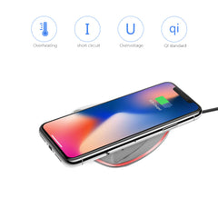 Mini Qi Wireless Charger Charging Pad With Light Indicator For All Qi-Enabled Devices Without USB Cable Support For iPhone 8/X,Galaxy S6/S7/S8/ GalaxyS6 S7 edge/ LGD1 LGLTE2 N EXUS4 5 6/ NOKIA Lumia 1020/920/928/