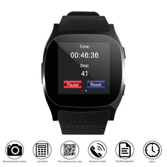 FORNORM T8 Bluetooth Smart Watch With Camera Music Player Facebook Whatsapp Sync SMS Smartwatch Support SIM TF Card For Android