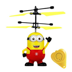 Minion drone RC Helicopter Aircraft Mini drone Fly Flashing helicopter Hand Control RC Toys Minion Quadcopter Dron LED Kids Toys