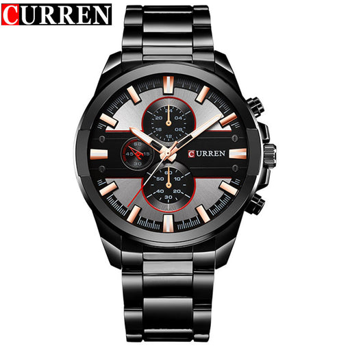 Luxury Men Business Watches CURREN Stainless Steel Waterproof Quartz Wrist Watch Male Casual Outdoor Sport Watch Gift Clock