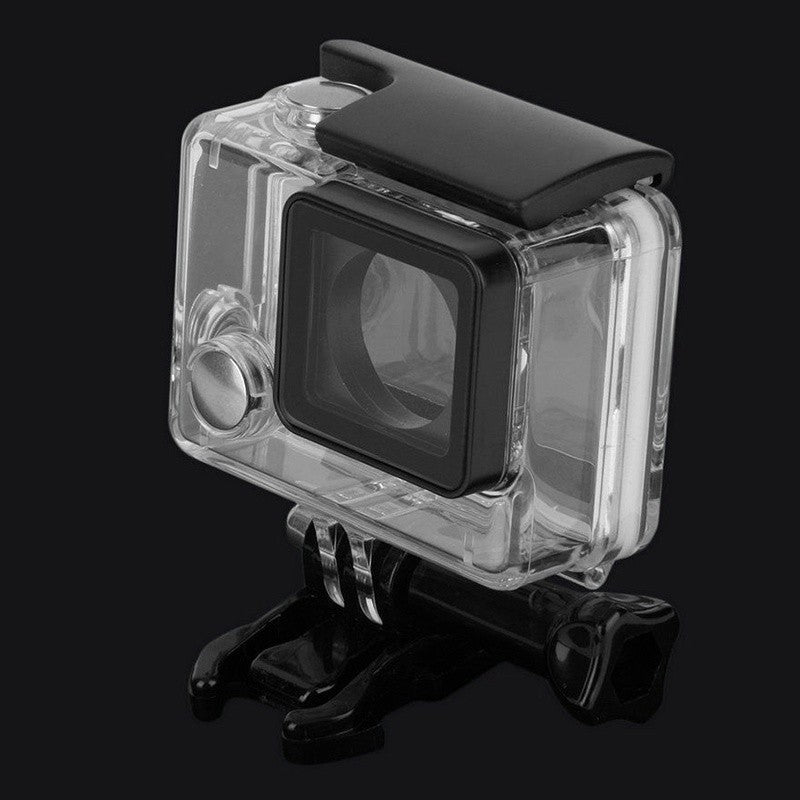 Waterproof Diving Housing Box Protective Case W/Bracket for Go Pro Hero4 3+