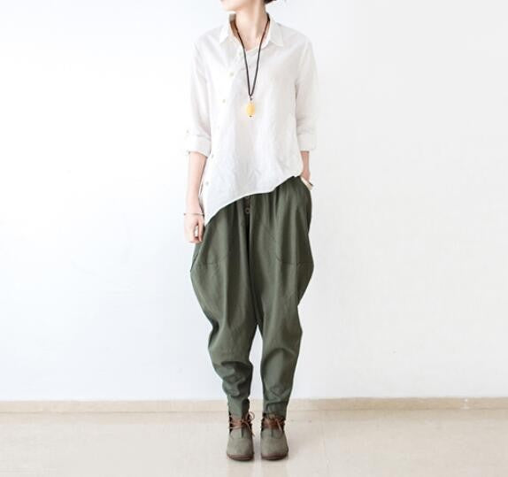 Women's Linen Harem Pants