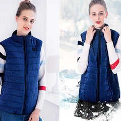 Outdoor Warm Clothing Heated For Riding Skiing Charging Via Heated Coat Vest