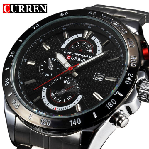 Luxury Famous Brand Full Stainless Steel Strap Analog Sports Men's Quartz Watches Casual WristWatch relogio masculino Male New