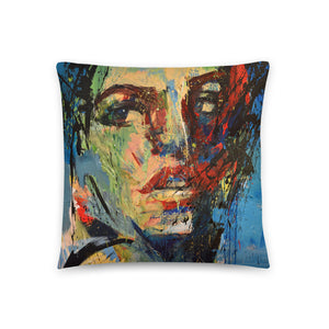 Aqua Throw Pillow