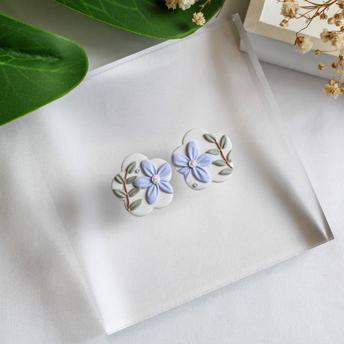 Statement Stud (Flower - Granite Floral)