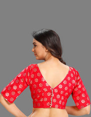 Red Potli Button Blouse