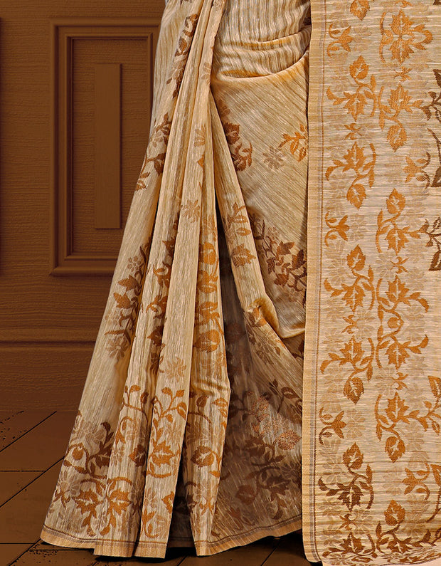 Liana Golden Saree SD 06701