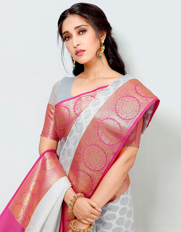 Mira Banarasi Cotton Silk Saree-15001