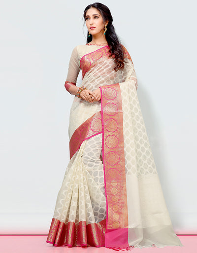 Mira Banarasi Cotton Silk Saree- 9005