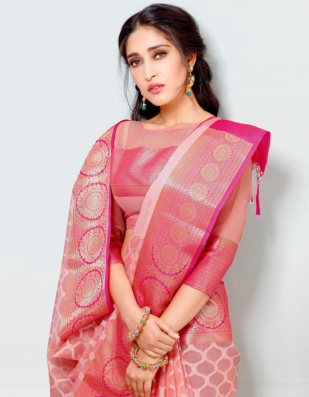 Mira Banarasi Cotton Silk Saree-15002